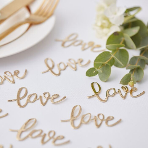 "Ginger Ray Tischkonfetti ""Love""- Gold"