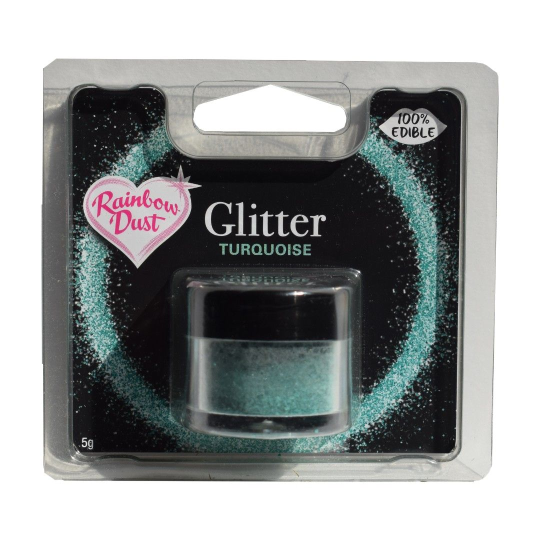 "Rainbow Dust Glitter ""essbar"" -Turquose"