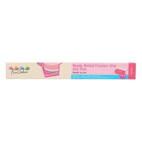 Funcakes ausgerollte Fondantdecke - Hot Pink 36cm