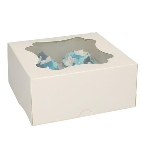 Funcakes Cupcake-Schachtel 4er Weiß - 3 Stück