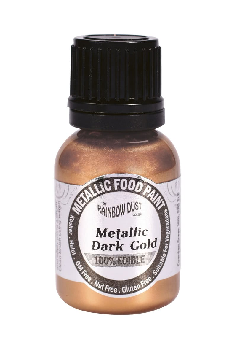 RD Edible Food Paints – Metallic Dark Gold