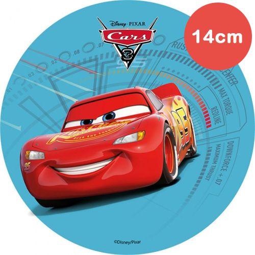 Mini Tortenaufleger Esspapier  - Cars -  Lightning Mc Queen - 14cm