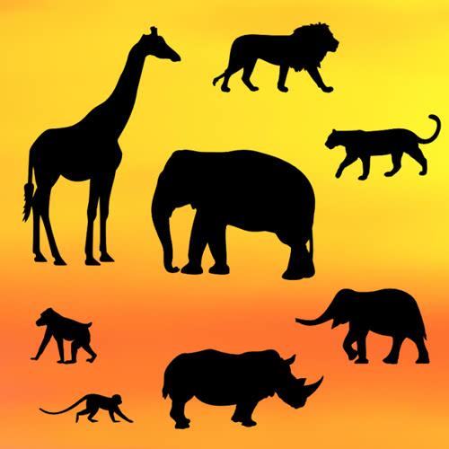 Patchwork Cutter Silhouette - Safari