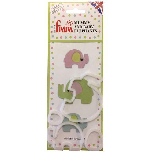 FMM Ausstecher Mummy & Baby Elefant
