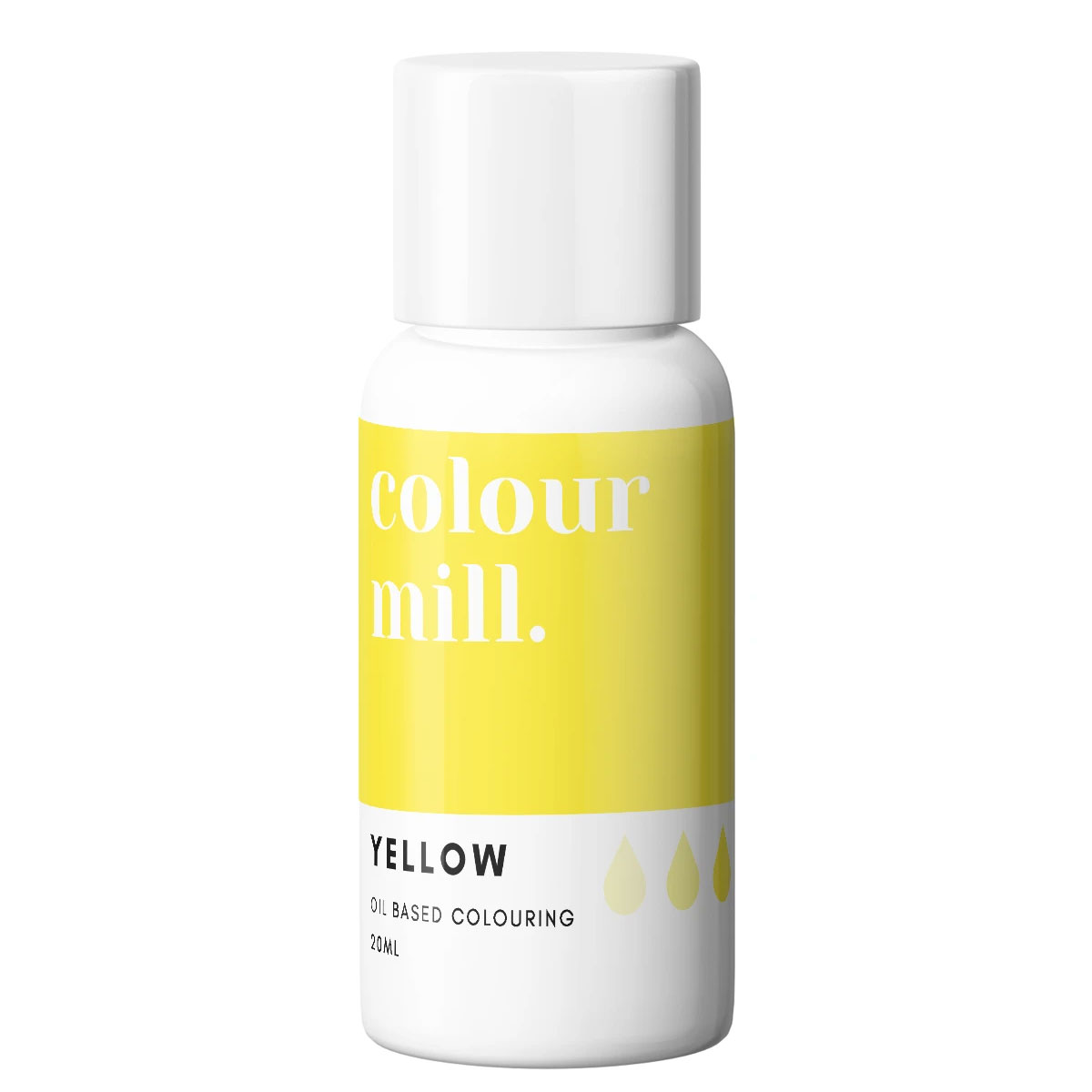 Colour Mill fettlösliche Lebensmittelfarbe - Yellow 20ml