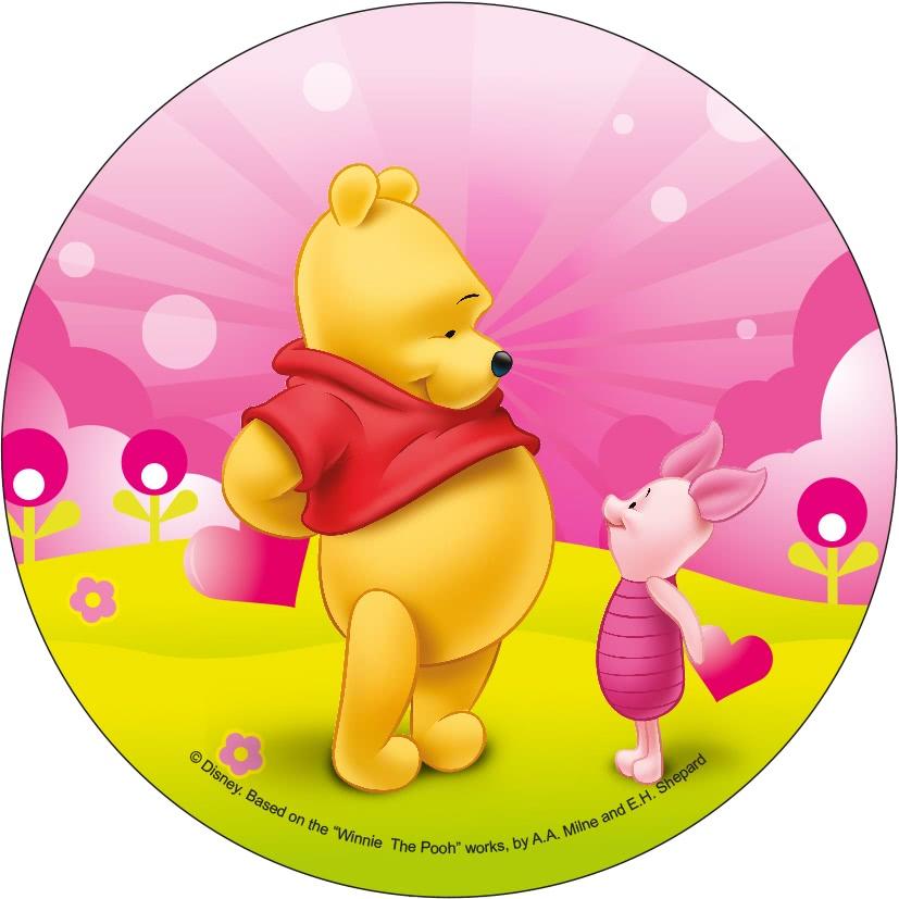 Tortenaufleger Esspapier  - Winnie Pooh Motiv 2