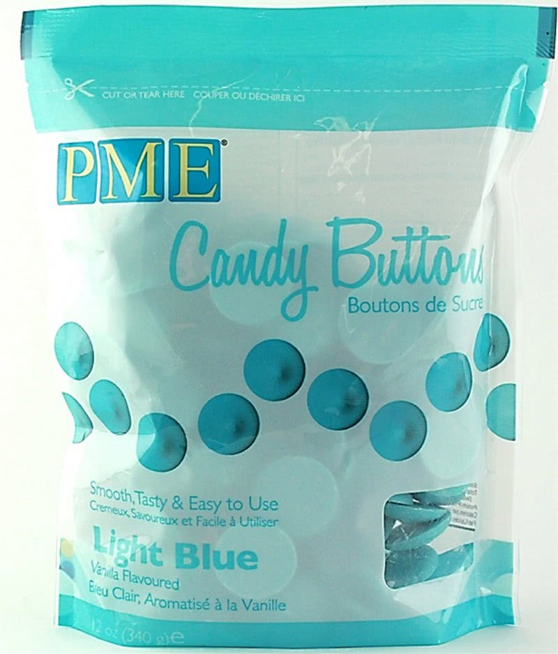PME Candy Buttons Vanilla – Light Blue