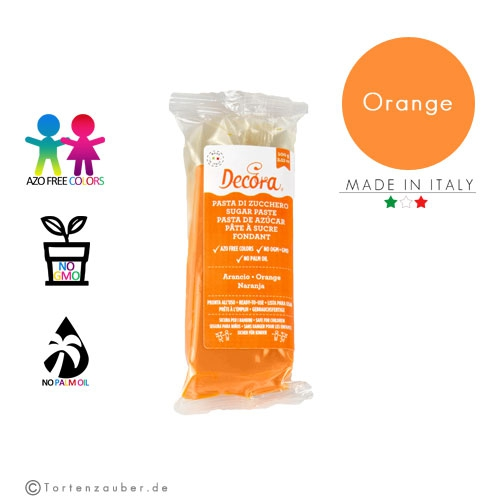 Decora Pasta di Zucchero - Fondant Orange 100g