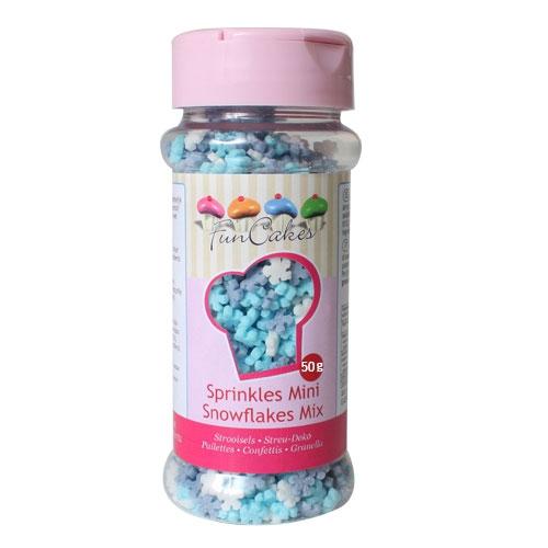 Funcakes Zuckerdeko Schneeflocken Farbenmix