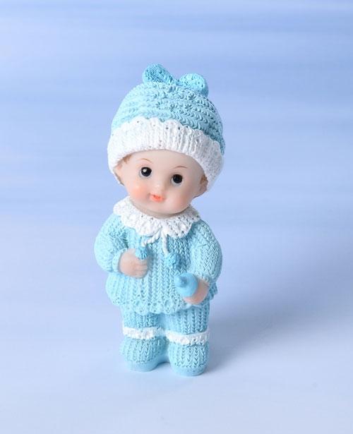 Decorative Tortenfigur Kleinkind mit Flasche - Blau