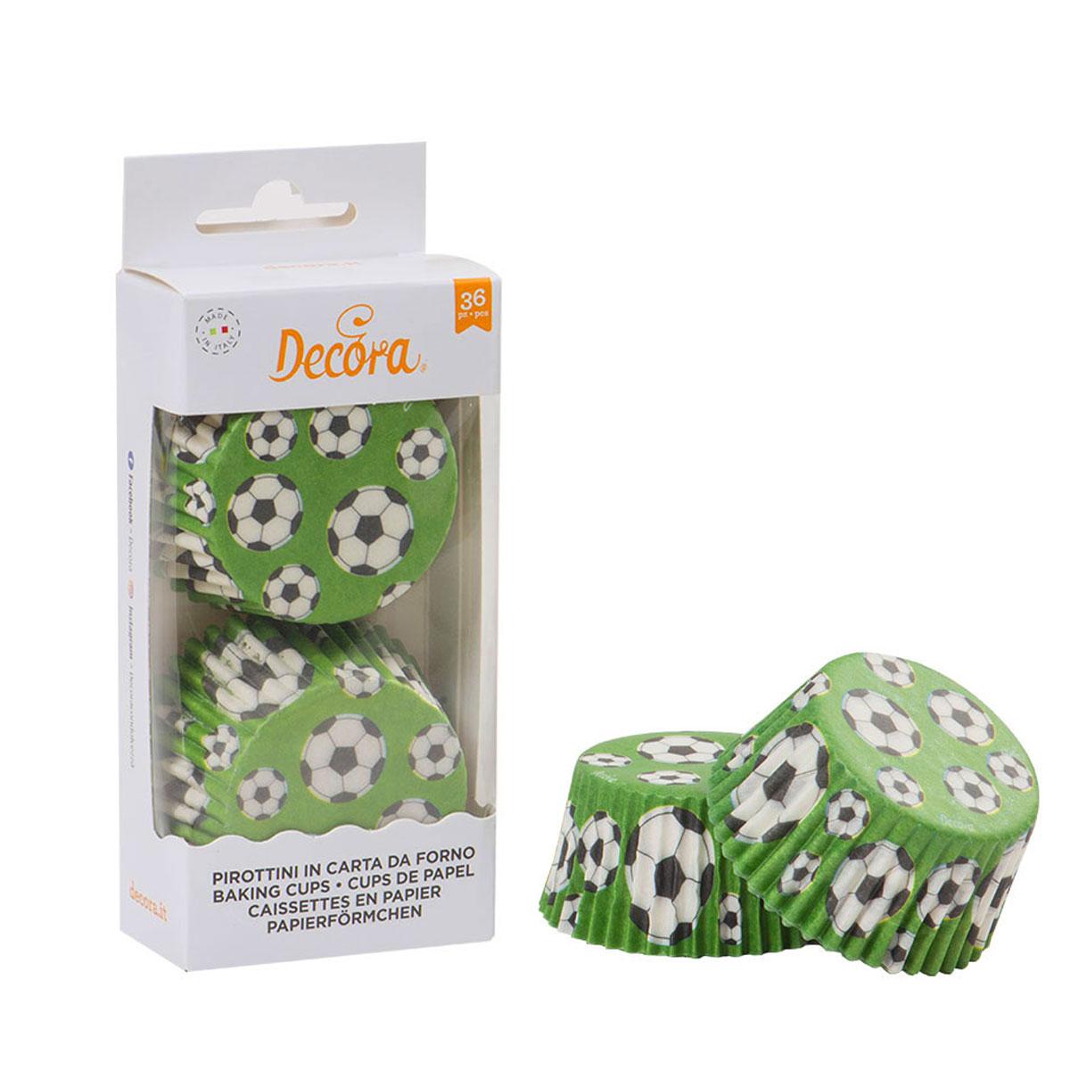 Decora Cupcake Papierbackförmchen Fußball 36 Stück