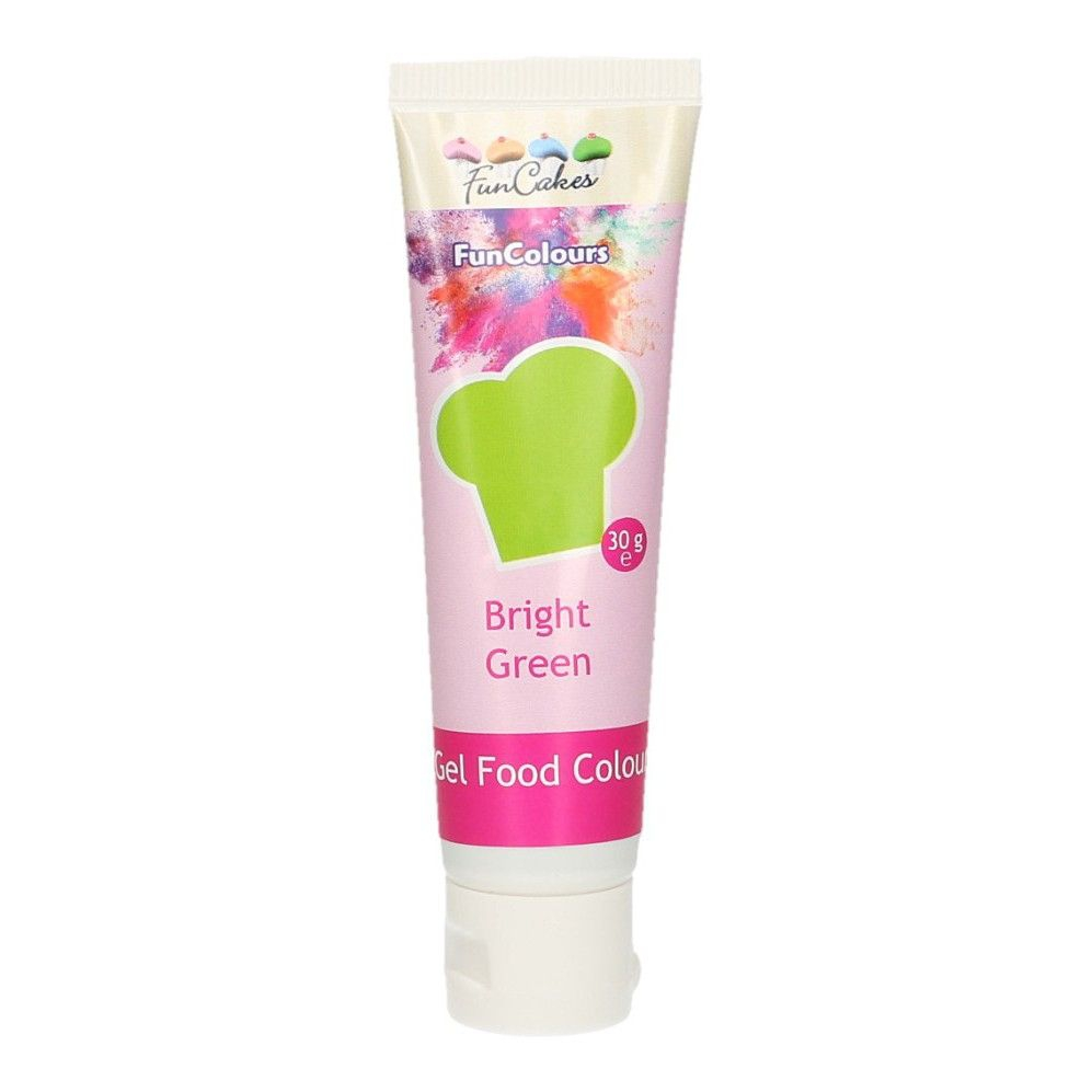 FunCakes Edible FunColours Gel - Bright Green