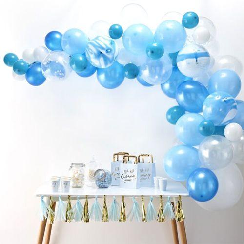 Ginger Ray Ballonbogen / Ballongirlande Set Blau