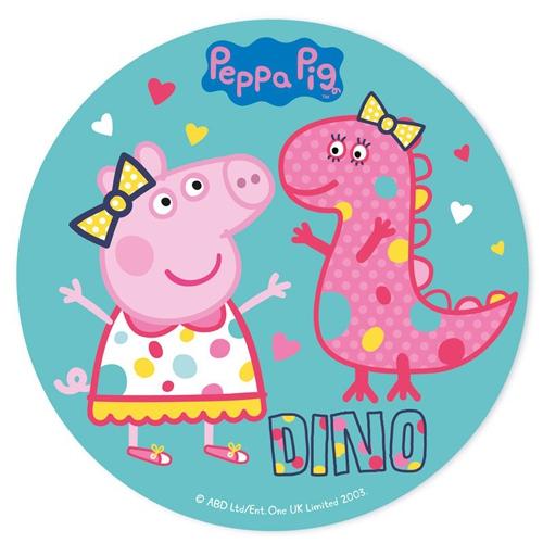 Tortenaufleger - Peppa Pig Dino 20cm