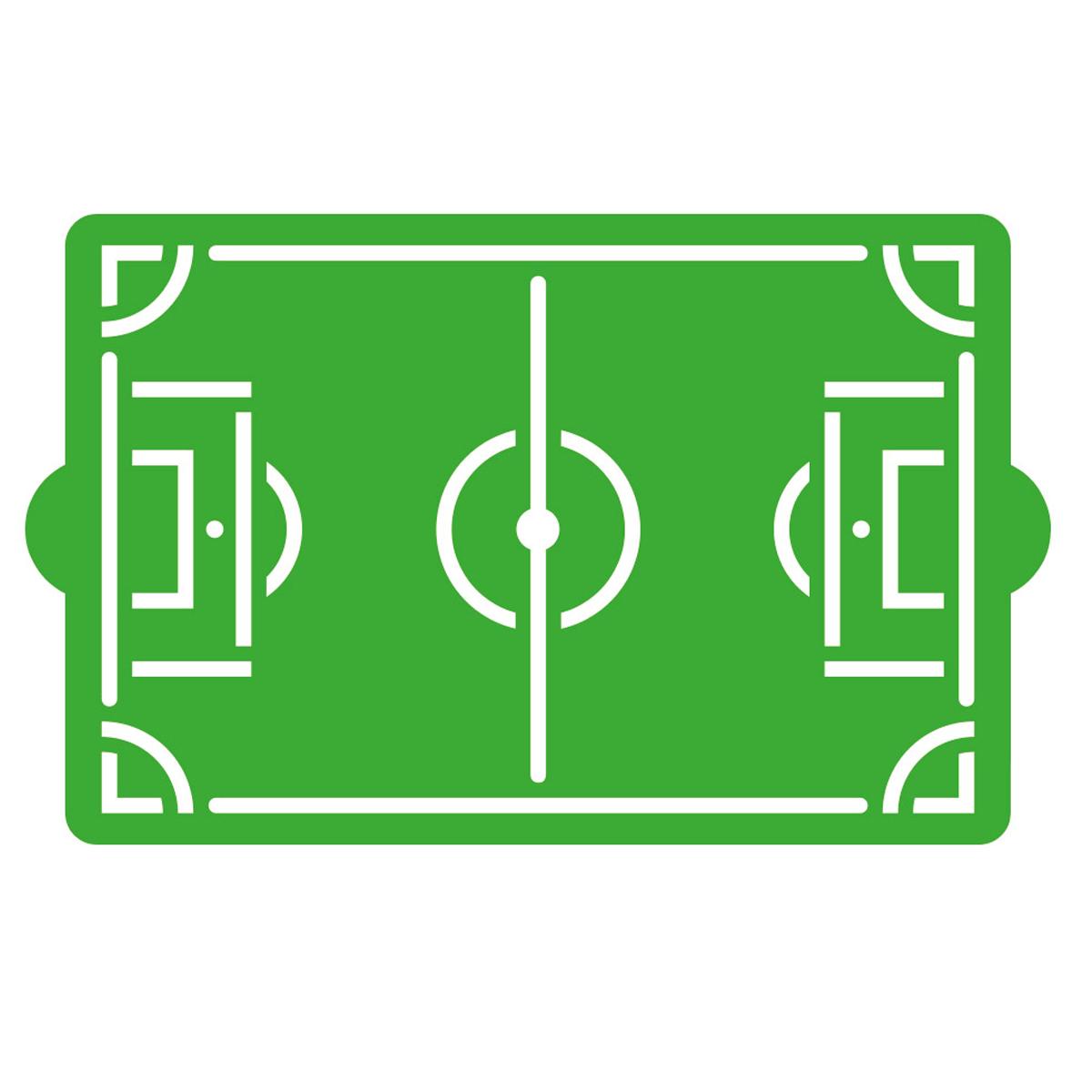 Decora Schablone Fußballfeld 30 x 20cm