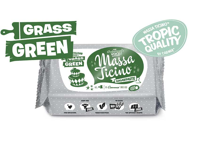 Massa Ticino Tropic – Rollfondant Grass Green 250g