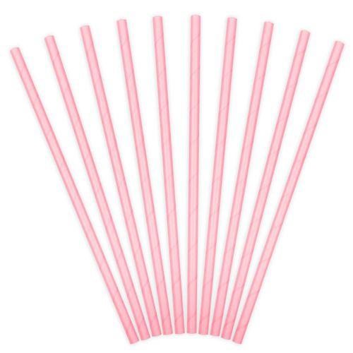 Partydeco Paper Straws - Strohhalm Rosa 10 Stück