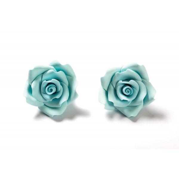 Decora Zuckerrosen 6 Stück 5cm - Babyblau