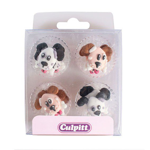 Culpitt Zuckerdekoration Hundeköpfe