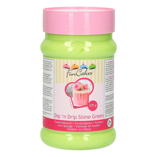 Funcakes Dip´n Drip Fondantglasur - Slime Green 375g