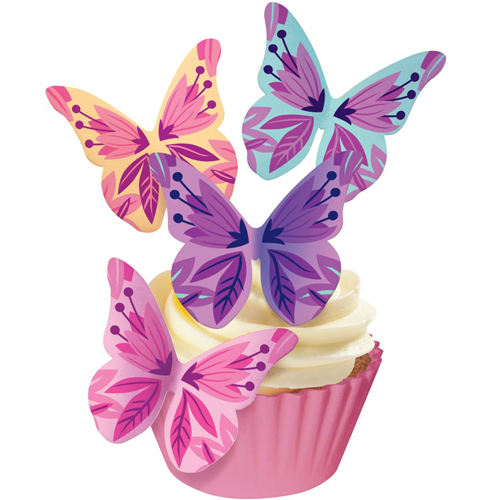 Esspapier Schmetterlinge - Floral Crocuses