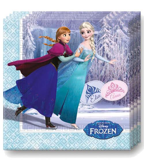 Servietten Frozen - Ice Skating 33 x33 cm
