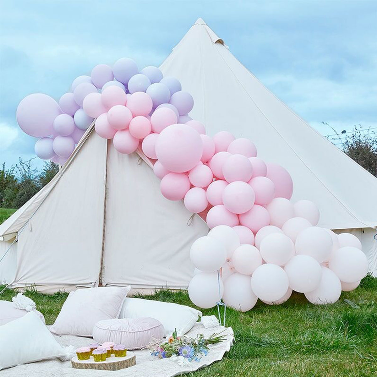 Ginger Ray Ballonbogen - Pastel Pink and Purple
