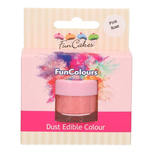 Funcakes Edible FunColours Dust - Pink Rose