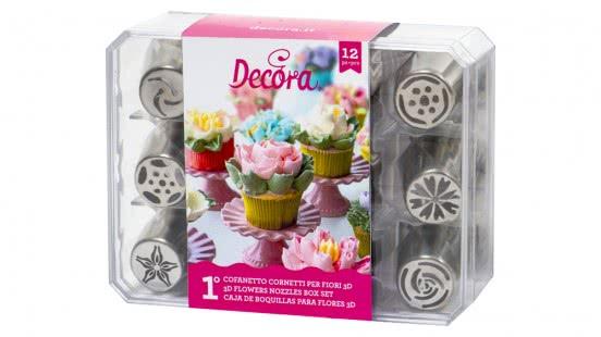 Decora 3D Blumentüllenset 12 Stück No.1