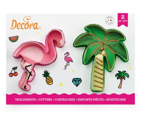 Decora Ausstecher - Flamingo und Palme Set