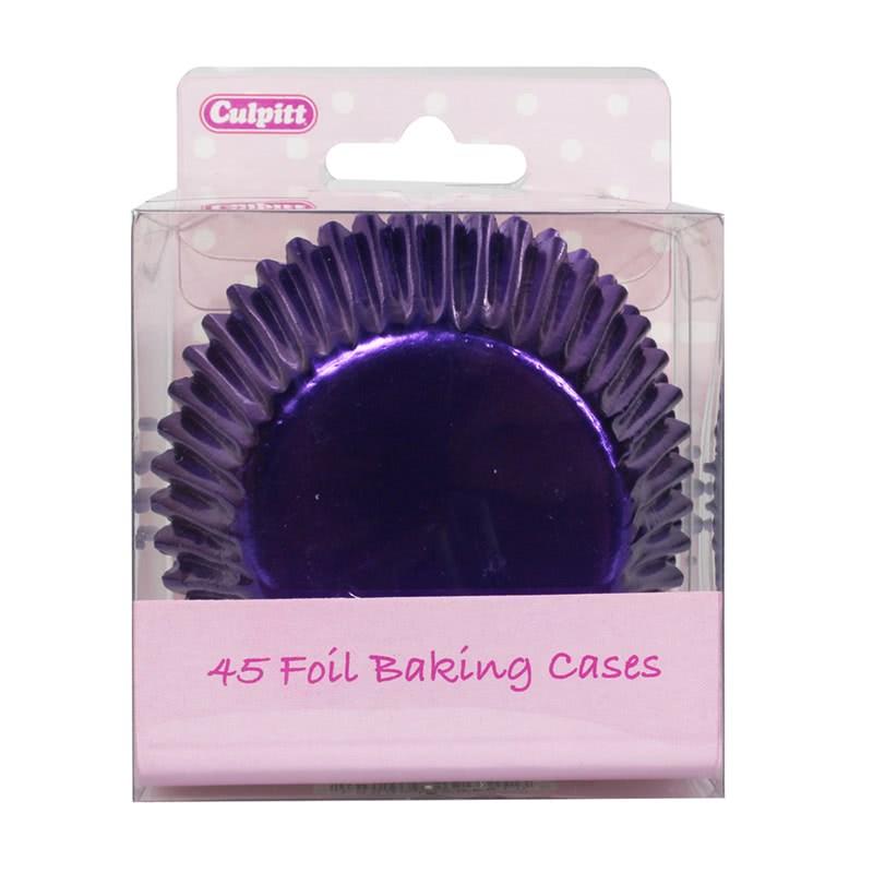 Culpitt Muffinförmchen Folie Purple 45 Stk