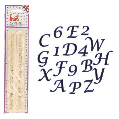 FMM Ausstecher Alphabet Tappits - Upper Case Script italic