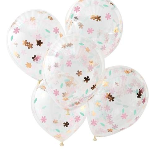 Ginger Ray Konfetti Ballon - Floral