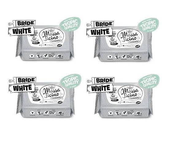 4 x 1 Kg Massa Ticino Tropic - Rollfondant  Bride white