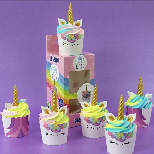 Cupkits - Cupcake Decorationsset Einhorn