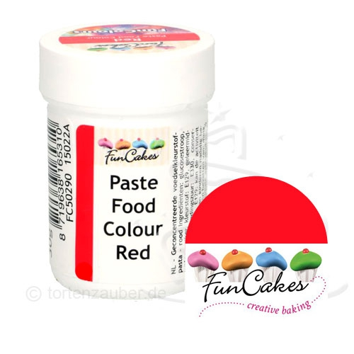Funcakes Funcolours Pastenfarbe - Red 30g