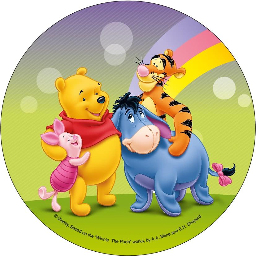 Tortenaufleger Esspapier  - Winnie Pooh Motiv 3