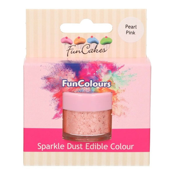 Funcakes Edible Sparkle Dust - Pearl Pink