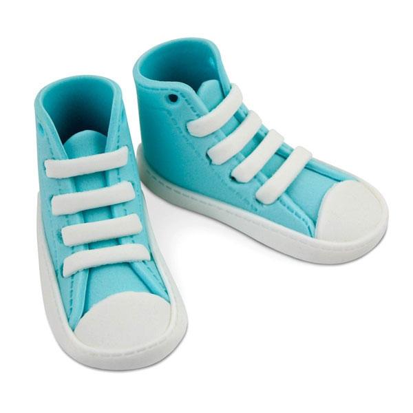 MHD 25/5/21 PME Edible Cake Topper High Cut Sneaker - Blue
