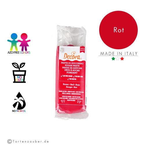 Decora Pasta di Zucchero - Fondant Rot 100g