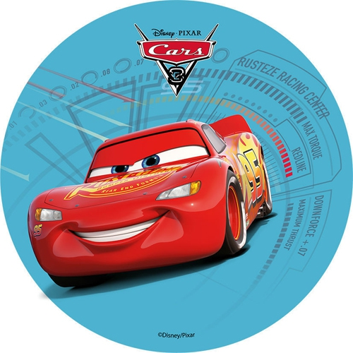Tortenaufleger Esspapier  - Cars Motiv 2