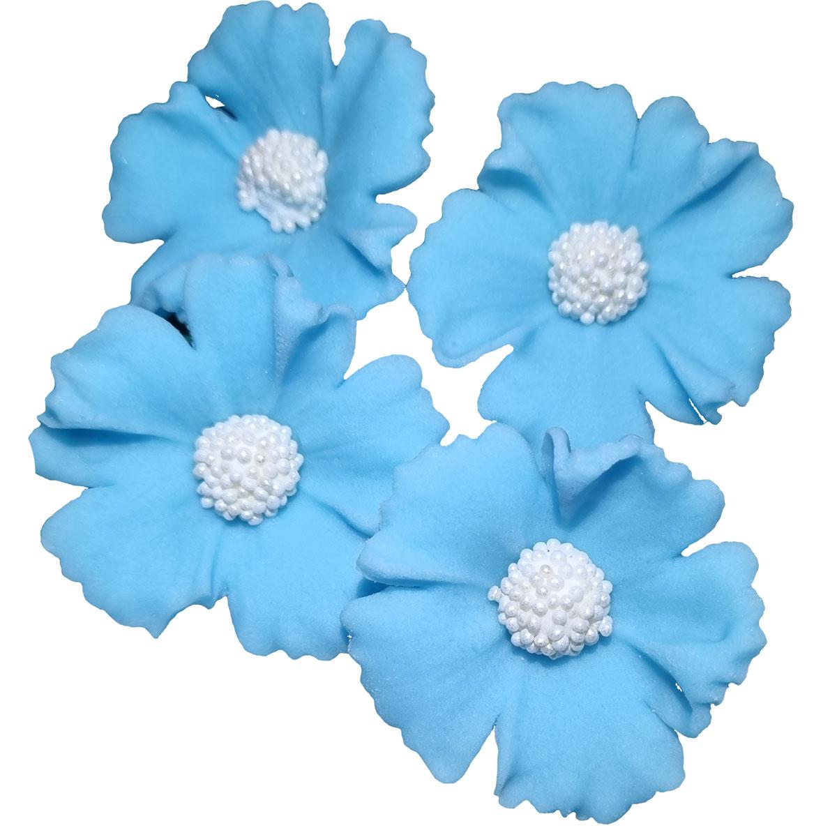 Zuckerblumen Kornblume 4 Stück - Babyblau