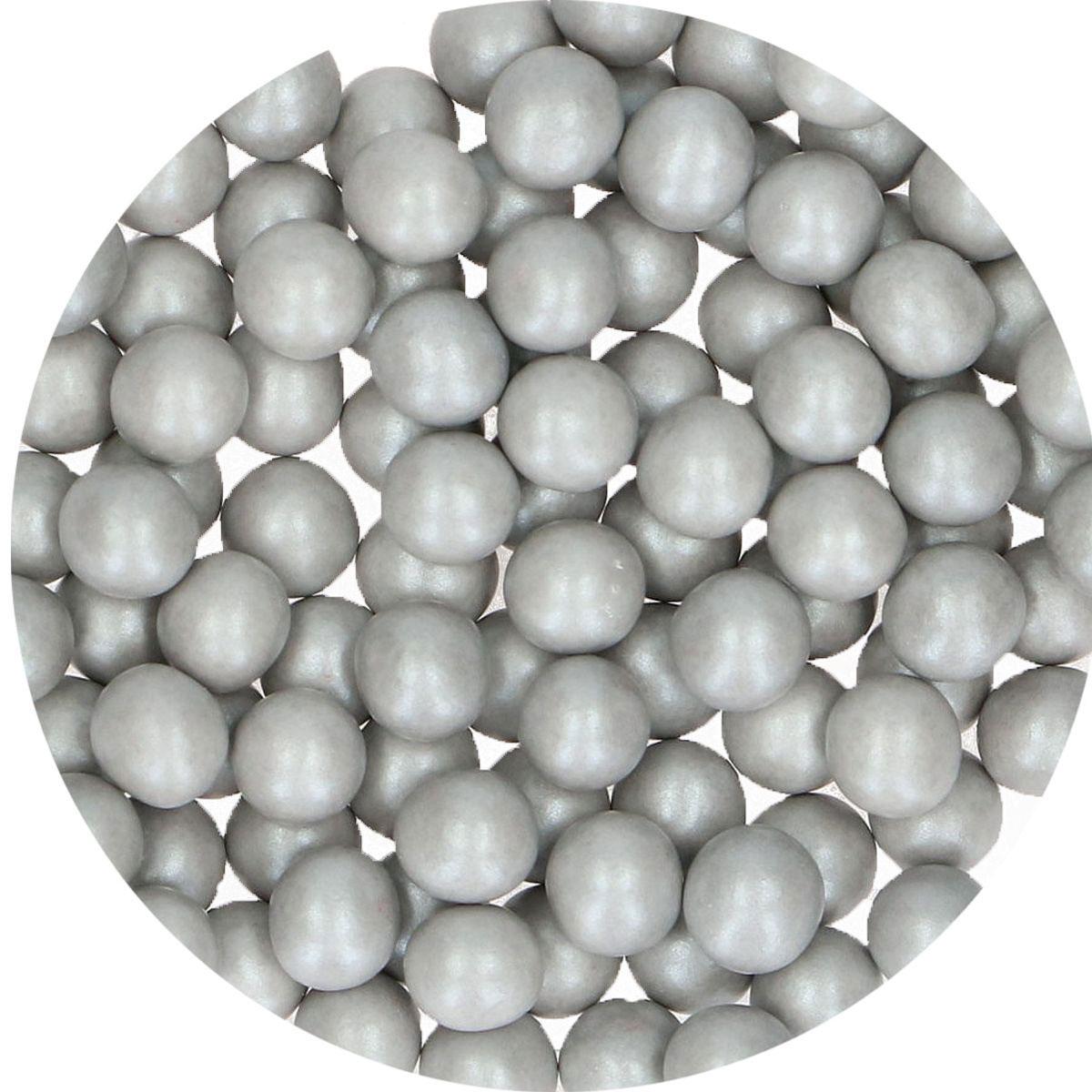 FunCakes Candy Choco Pearls Large Silbergrau 70g