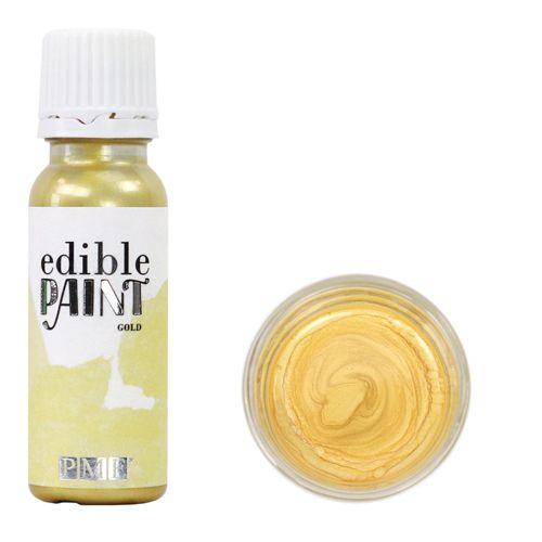 PME flüssige Lebensmittelfarbe - edible Paint Gold 20ml