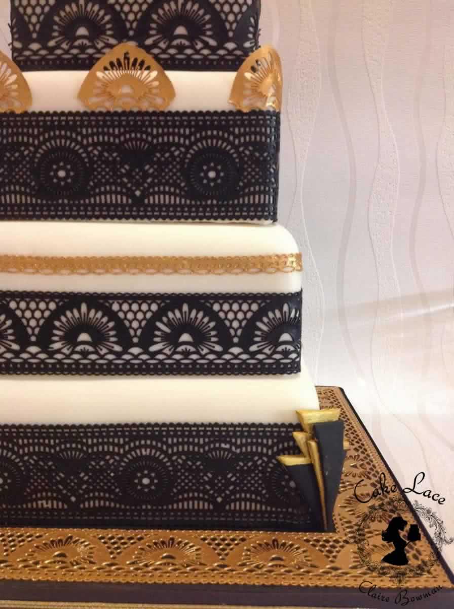 Cake Lace Claire Bowman Silikonmatte – Art Deco