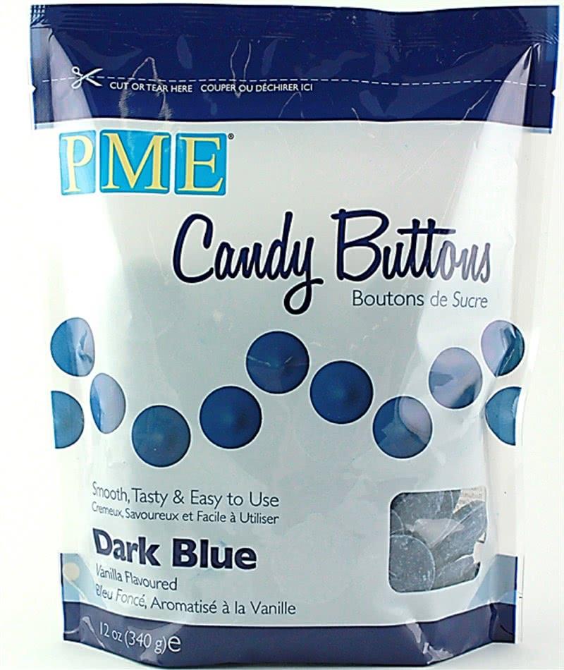 PME Candy Buttons Vanilla – Dark Blue 340g