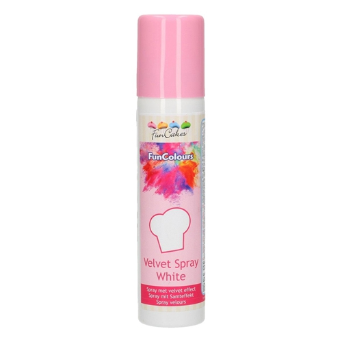 Funcakes Velvet Spray - Samtspray - White 100ml