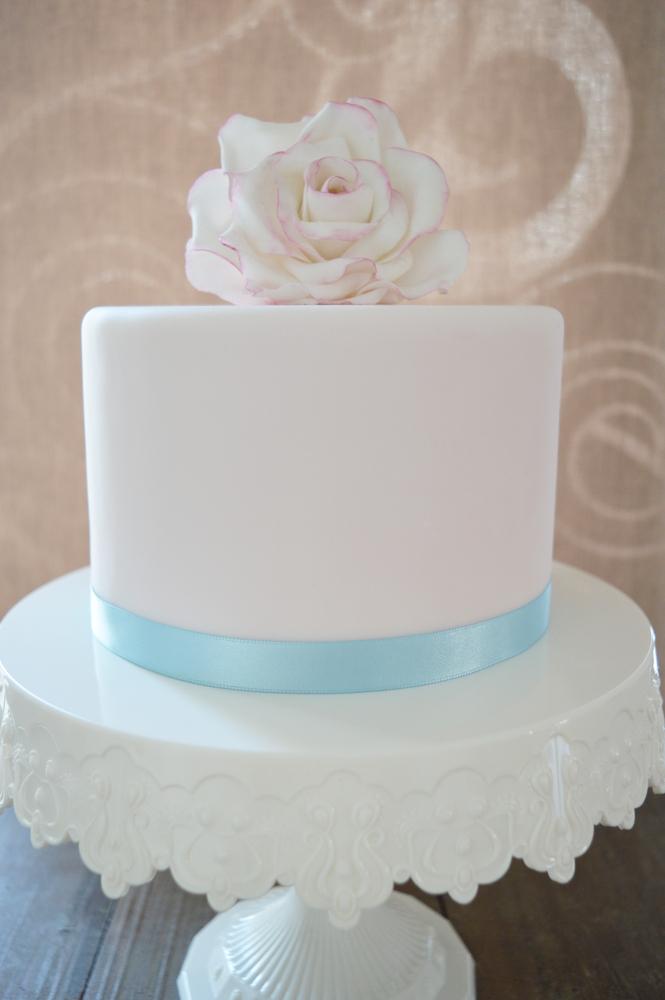 Tortenband Satinband Babyblau 15mm x 5m