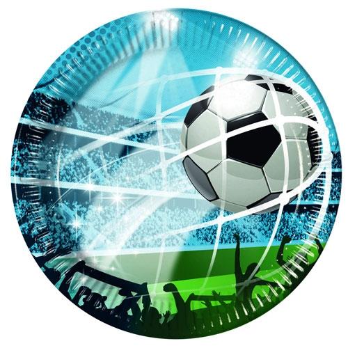 Pappteller Fussball Fans - 23cm
