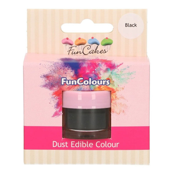 Funcakes Edible FunColours Dust - Black
